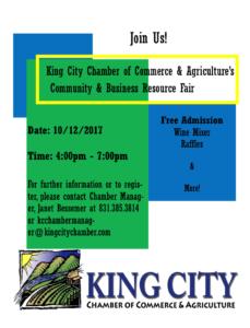 King City Chamber Community Resource Fair @ Salinas Valley Fair  Orradre Building | King City | California | United States
